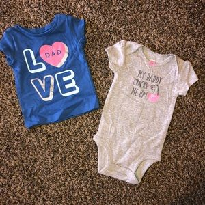 NWOT carter's daddy onesie and shirt